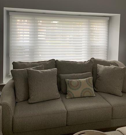 Hunter Douglas Silhouette in Living Room - Breslow Home Design Center