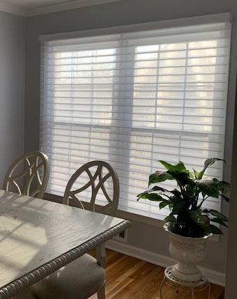 Hunter Douglas Silhouette in Dining Room - Breslow Home Design Center