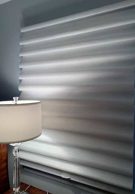 Hunter Douglas Vignette in Master Bedroom - Breslow Home Design Center