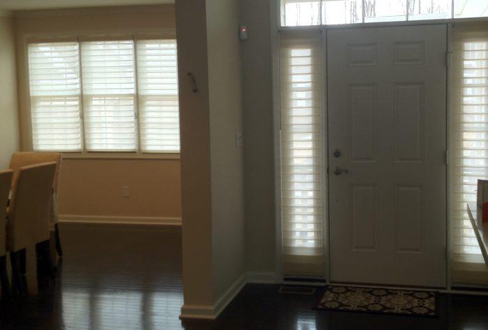 Silhouettes Installed in Entry - Short Hills, NJ - Breslow Home Design Center