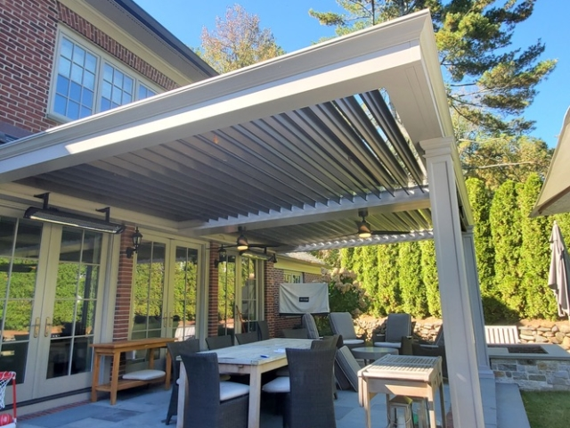 Breslow Home Design can completely customize your Apollo Opening Roof.  Add custom trim, custom columns, custom colors. We will work together for the perfect design.