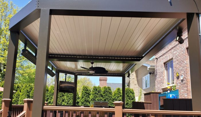 Apollo Louvered Roof Over Deck - Closed Louvers - Breslow Home Design Center