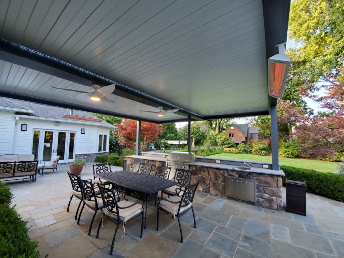 Apollo Louvered Roof System with Screen Shade - Breslow Home Design Center