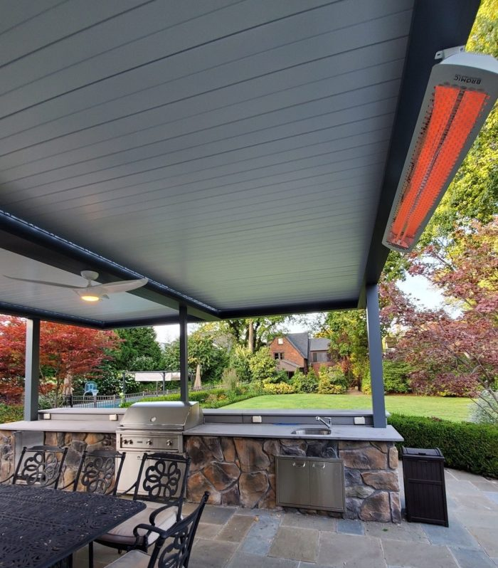 Apollo Louvered Roof System Installed Over Patio - Breslow Home Design Center