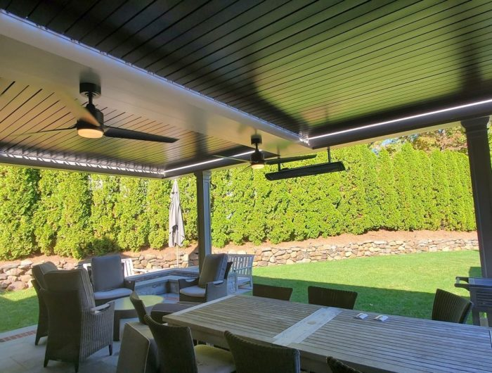 Apollo Louvered Roof System Installed Over Patio - Short Hills, NJ - Breslow Home Design Center