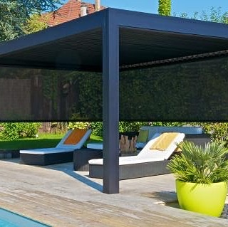 Solar Shades can be added to the motorized pergola