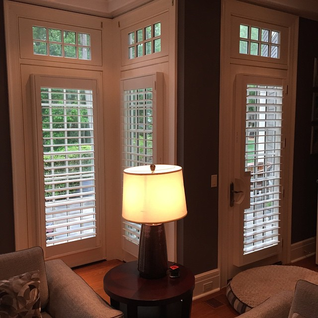 French door plantation shutters by Breslow