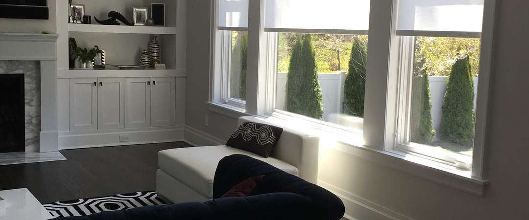 Hunter Douglas Designer rollers by Breslow home design