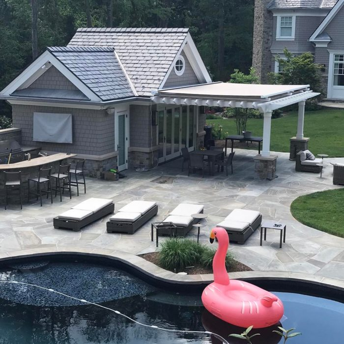 Retractable Pergola system for shade by Breslow