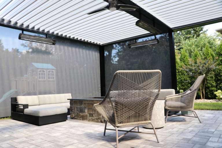 louvered roof system with solar shade